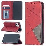 JIAHENG Cas de téléphone de Haute qualité for iPhone 12 Mini Rhombus Texture Horizontal Flip...