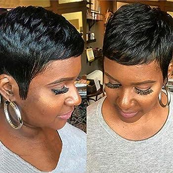 AIWEISE Short Human Hair Pixie Wigs for Black Women Short Pixie Wigs Human Hair Short Cut Wig