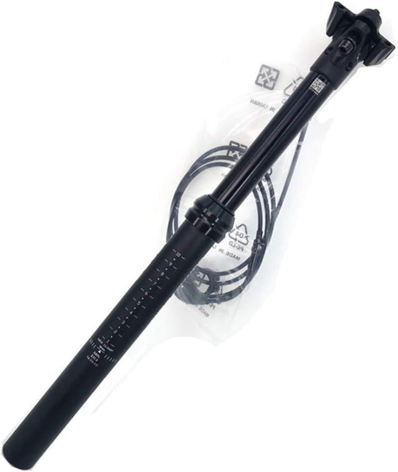 WYJW Tija de sill/ín con suspensi/ón Tija de sill/ín cuentagotas para Bicicleta de monta/ña con enrutamiento de Cables externos Altura y /ángulo Ajustables Tija de sill/ín de aleaci/ón de ALU