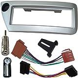 AERZETIX - Kit de montaje de Radio de Coche estándar - 1DIN - Marco, Cable enchufe y Adaptador de antena - C2763A