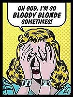 2個 Oh Good Im Bloody Blond CoffeeHouseまたはHomeWall Decor Style Metal Tin Sign 8X12 Inches