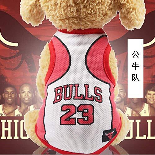 UD-strap NBA Jersey Dog Camicia Coppa del Mondo Cane Vestiti per Cani di Piccola Taglia Estate Chihuahua Tshirt Cucciolo Gilet Pet Clothes 3XL B