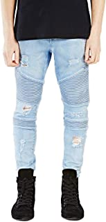 Men's Jeans Runway Slim Racer Biker Jeans Fashion Hiphop Skinny Jeans