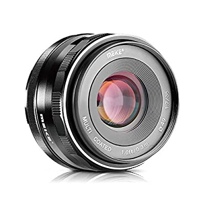 Meike 35mm f1.7 Large Aperture Manual Focus APSC Lens for Fujifilm X Mount Mirrorless Camera X-T3 X-H1 X-Pro2 X-E3 X-T1 X-T2 X-T4 X-T10 X-T20 X-A2 X-E2 X-E2s X-E1 X30 X70 X-M1 X-A1 XPro1,etc by Meike