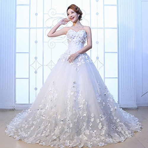 ZG GZ Abito da Sposa Slim Large Custom Dress da Sposa,Un,S