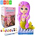 Yileqi Kids Crafts and Arts Painting Kit, Party Favors Mermaid Toy Paint for Kids Crafts for Girls Ages 4 6 8 12 Years Old, Mermaid Gifts for Girls Boys Non Ceramic Paint Set Birthday Gift Supplies