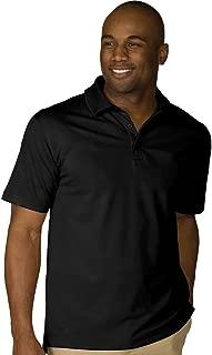 Garment Men's Dry-Mesh Hi-Performance Wrinkle Resistant Polo Shirt