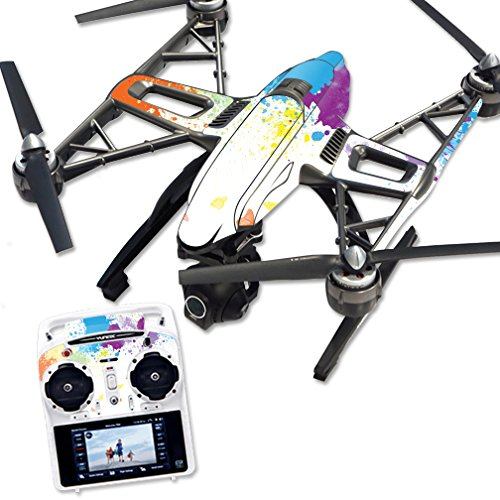 MightySkins Skin Compatible with Yuneec Q500 & Q500+ Quadcopter Drone wrap Cover Sticker Skins Splash of Color
