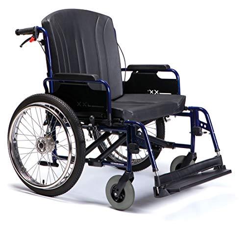 FabaCare Rollstuhl Eclips XXL, Leichtgewichtrollstuhl bis 200 kg, mit Trommelbremse, faltbar, Sitzbreite 60 cm