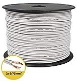 toolcity Cable de Altavoz (Zwilling Litz) 2x...