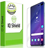 IQ Shield Screen Protector Compatible with Galaxy S10 Plus (S10+ 6.4 inch)(2-Pack)(Case Friendly) Anti-Bubble Clear Film (NOT Compatible with Verizon S10 5G 6.7)(Works with Fingerprint ID)