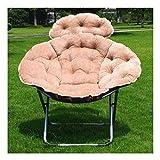 M-JJZX Moon Camping Chair,folding Lightweight Recliner Chair Thicken Detachable Cushion Mute Non-slip For