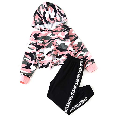 Autumn Girl Clothes Set Long Sleeves Top Love Hosenbügler Baumwolle 2Pcs Suit Girls Casual Tracksuit Kids Sportswear Outfits 1-6 Jahre