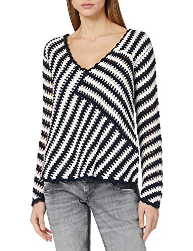 Desigual Womens JERS_Niagara Sweater, Blue, L