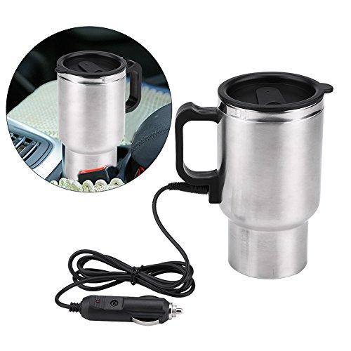Frasco de vacío eléctrica - 12V 65 ℃ coche Hervidor eléctrico taza del viaje del acero inoxidable eléctrica de la taza de té del café, 450ml