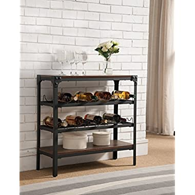 Kings Brand Antique Finish Wine Rack Stand Console Buffet Table