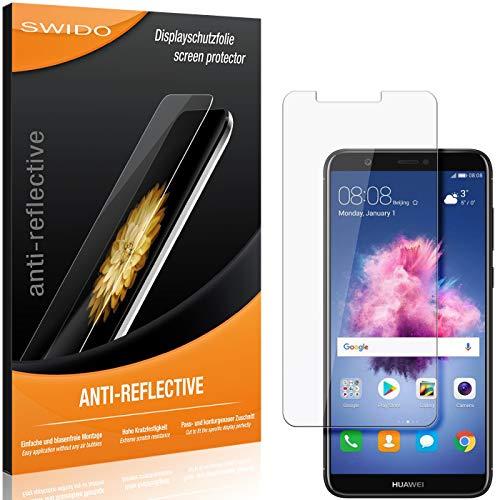 SWIDO Schutzfolie für Huawei P Smart [2 Stück] Anti-Reflex MATT Entspiegelnd, Hoher Festigkeitgrad, Schutz vor Kratzer/Folie, Bildschirmschutz, Bildschirmschutzfolie, Panzerglas-Folie