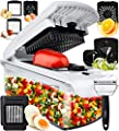 Fullstar Vegetable Chopper Onion Chopper Dicer - Peeler Food Chopper Salad Chopper Vegetable Cutter Vegetable Spiralizer Vegetable Slicer Zoodle Maker Lemon Squeezer Egg Separator Egg Slicer
