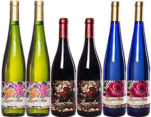 Bodegas Cañaveras Selección LaurAna - Lote de 6 botellas Vino de la Tierra de Castilla- Pack 6 x 750 ml