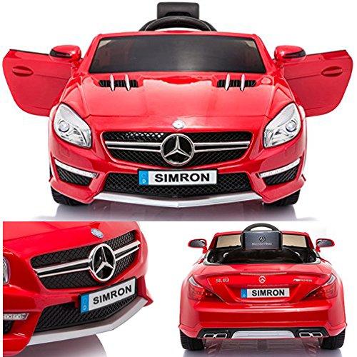 SIMRON - Mercedes-Benz SL-63 AMG Cabriolet Ride-On 12V Elektro Kinderauto Kinderfahrzeug Kinder Elektroauto*