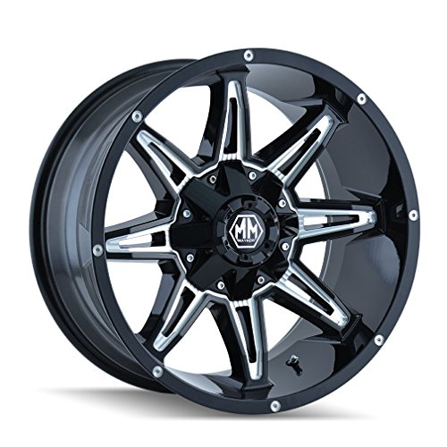 "Mayhem Rampage 8090 Black Wheel with Milled Spokes (20x9""/16x165.1mm)"