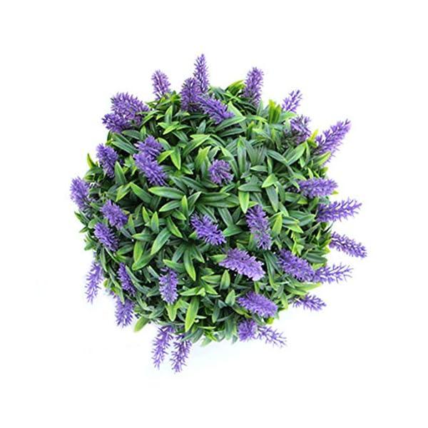 Zhizhuo – Cesta para decoración de plantas de flores artificiales caseras, color morado