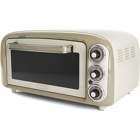 Ariete Vintage 979 Four Électrique design 18 L, Convient pour Pizza de 30 Cm, 1380 W, 3 Positions de Cuisson, Minuterie 60', en Acier Inoxydable, Beige Pastel