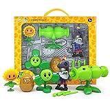 Juguetes genuinos grandes de Plants vs Zombies Figuras de acción Juguetes Juegos de disparos de anime Juguetes de girasol de silicona Zombie Skittles PVZ Sets Toy