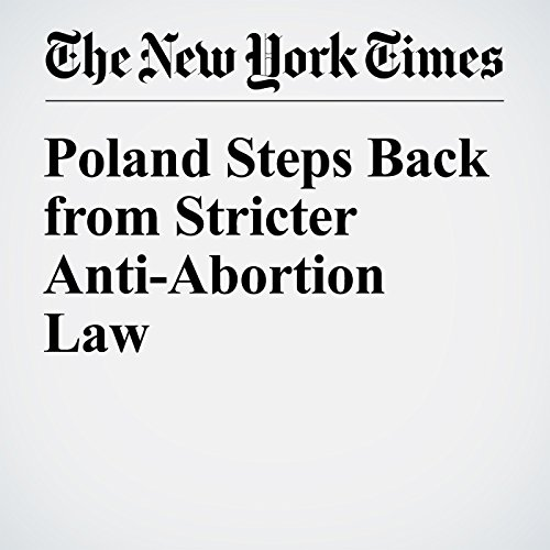 『Poland Steps Back from Stricter Anti-Abortion Law』のカバーアート