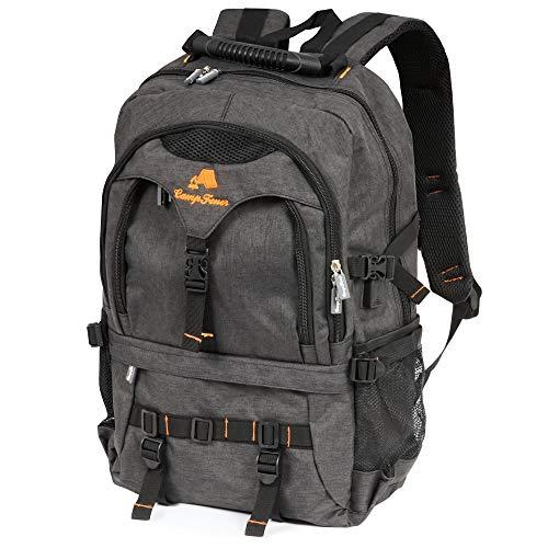 CampFeuer Laptop Rucksack 17 Zoll Business Notebook Backpack mit USB für Damen und Herren wasserdicht leicht