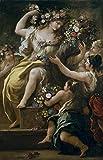 Luca Giordano Giclee Papel de Arte impresin Obras de Arte Pinturas Reproduccin de Carteles(La Diosa Flora) #XZZ