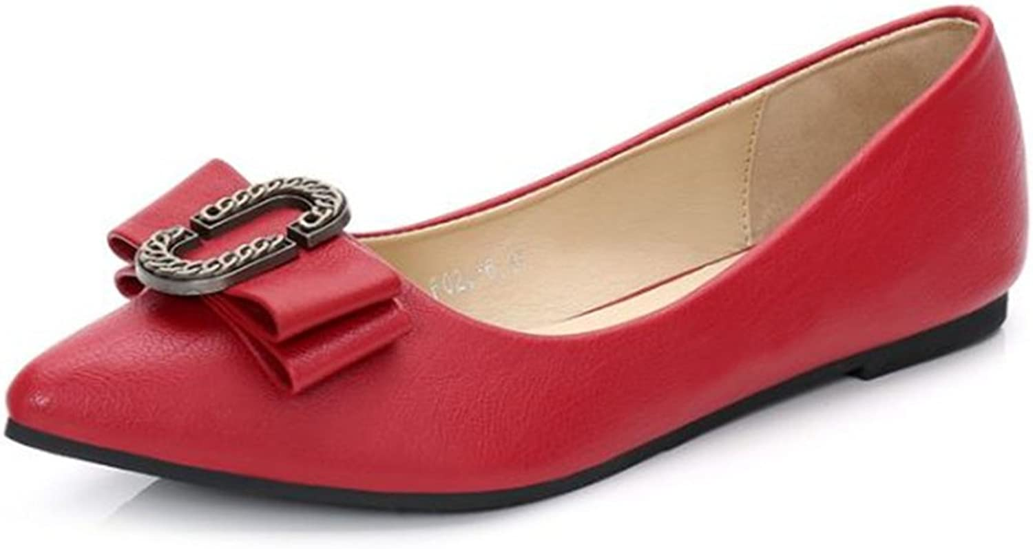 Womens Classic Pointy Toe Ballet Slip On - Casual Comfortable Flats