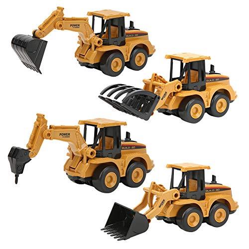 YOUTHINK 4 Piezas de Simulación de Excavadora Deslizante de Juguete de Ingeniería Modelo de Vehículo Juguetes Niños Regalo para Niños Camión de IngenieríaVehículo de Ingeniería de Juguete(Car)