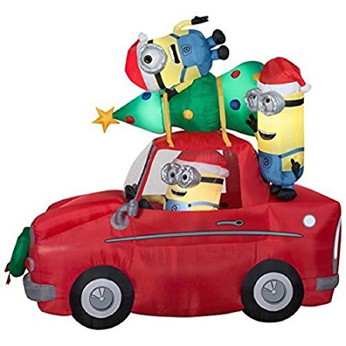 Inflatable Minions Christmas Decorations