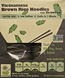 Rice Noodles, Ramen Noodles Alternative, Non-GMO, Pad Thai Noodles, Star Anise Foods (Brown Rice Noodles with Seaweed, 24 servings)