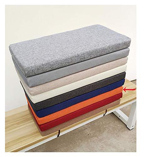 wangk Settee Cushion Seat Cushions Bench Cushion Rectangle Soft Chaise Swing Chair Cushion for Garden Outdoor Metal Or Wooden Bench