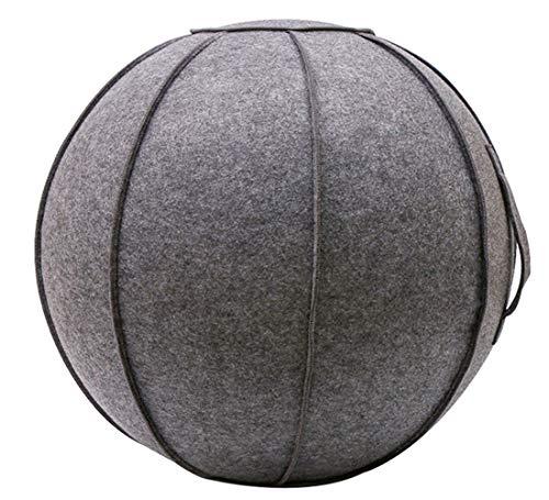 SOKLIT Fühlte Sitzball, Ergonomisches Sitzmöbel für Büro und Zuhause, Deckel for 65cm Pilates Ball Yoga Ball, mit Tragegriff, Balance Ball für Core Strength