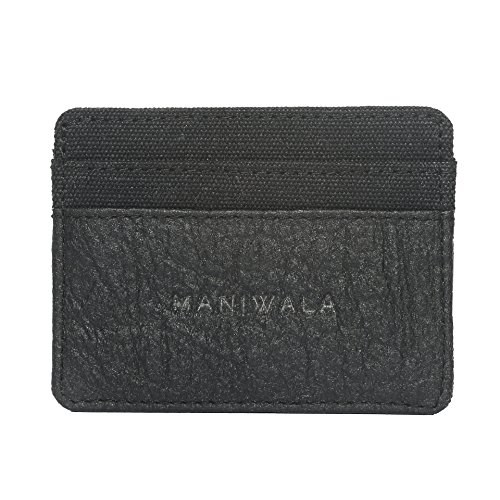 MANIWALA Sulit Hemp & Piñatex Cardholder Wallet 100% Vegan Made In USA From Pineapple & Hemp