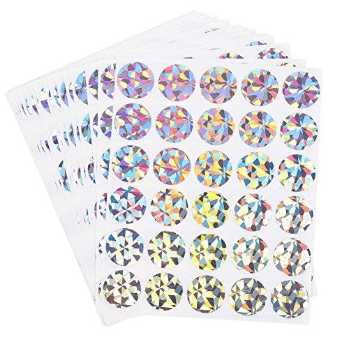 Scratch-Off Sticker - Runde Aufkleber, selbstklebend, abziehen und aufkleben, DIY Kreisetiketten für Hochzeiten, Spiele, Spendenaktionen, Promotionen, holografisch, 2,5 cm Durchmesser 510-count