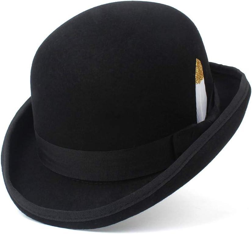 TWEITIE Men's Fedora Hat Navy Black Sacramento Fashion Mall Floppy Felt Brim Woolen Grey