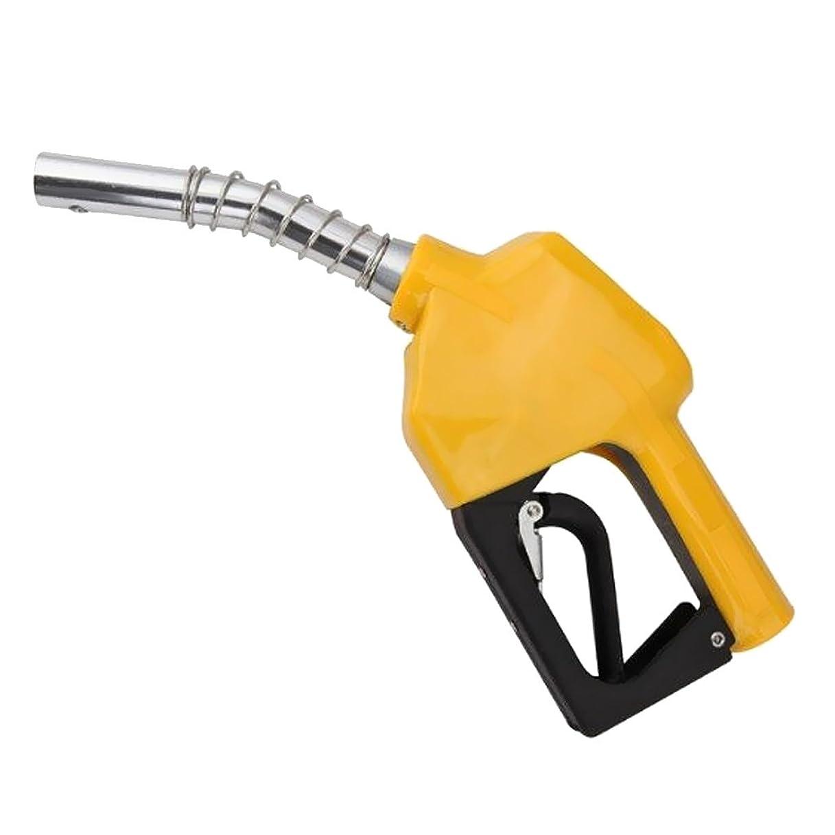 豆腐これまで被害者Perfeclan 給油ガン 全5色 燃料 ディーゼルノズル 自動オフオイル  自動燃料配達ガン - イエロー
