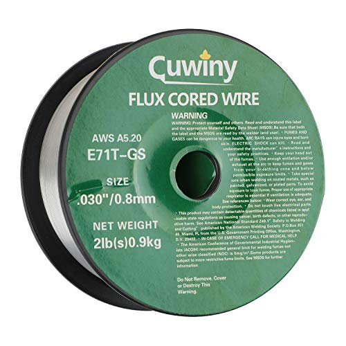 Cuwiny Flux Core Gasless Mig Wire, Mild Steel E71TGS.030-Diameter, 2-Pound Spool (0.030-Inch 2LB). Buy it now for 13.80
