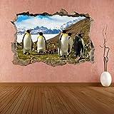 Pegatinas de pared 3D Pingüinos Aves acuáticas Animal 3D Etiqueta de la pared Mural Calcomanía Decoración de la habitación de los niños
