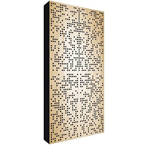 Binary Diffusor WOOD 120x60x11,5cm by Addictive Sound | Akustik Diffusor verbessert die Raumakustik und Schalldämmung | Akustikpaneel – Natural