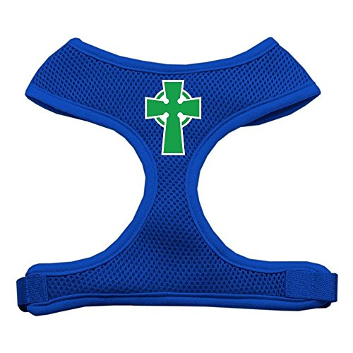 Mirage Pet Products Celtic Cross Screen Print Soft Mesh Dog Harnesses, Small, Blue