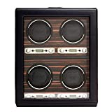 WOLF 459156 Roadster 4 Piece Watch Winder with Cover, Black