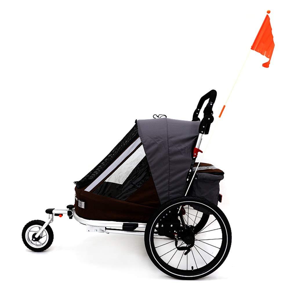 Los Niños Jogging Remolque Remolque Plegable Convertir En Un Solo Remolque Asiento De Bicicleta Que Activa Dosel Cochecito 2-1 Y Ruedas De 16 Pulgadas (Color : Negro, tamaño : Free Size): Amazon.es: Hogar