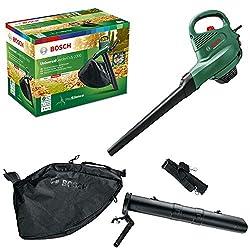 Bosch elektrischer Laubsauger/Laubbläser UniversalGardenTidy 2300 (2300 W, Fangsack 45 l, stufenlose Drehzahleinstellung, zum Blasen, Saugen und Häckseln von Laub, im Karton)
