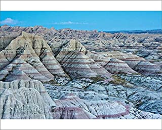Media Storehouse 10x8 Print of Panorama Point in Badlands National Park, South Dakota, USA (18244621)