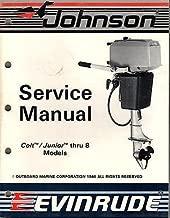 1987 JOHNSON EVINRUDE OUTBOARD COLT/JUNIOR THRU 8 SERVICE MANUAL P/N507614 (397)